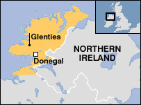 Glenties map
