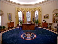 The Clinton-era Oval office
