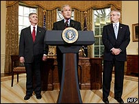 Mr Bush in the Oval Office