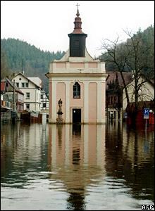 Church on the Czech-German border
