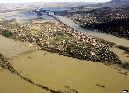 Aerial view of the River Danube