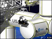 Artist's impression of the International Space Station (Esa)