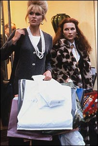 Scene from the BBC comedy Absolutely Fabulous