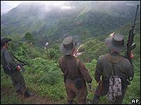 Un grupo de las FARC