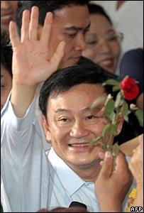 Thaksin Shinawatra waves