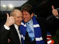 Reading manager Steve Coppell and chairman John Madejski