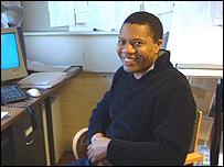 Ola Animashawun in his office