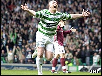 John Hartson fired Celtic into an early lead