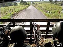 Tropas del ejército colombiano