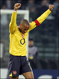 Arsenal skipper Thierry Henry