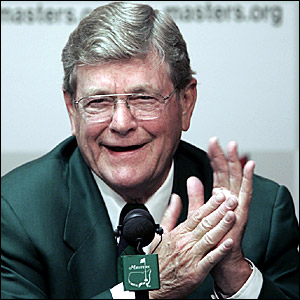 Hootie Johnson, chairman of the Augusta National Golf Club and the Masters