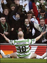 John Hartson and Celtic fans