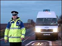 Police officer at Cellardyke