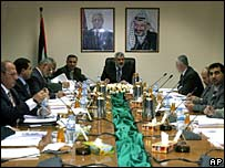 First Hamas cabinet meeting in Gaza
