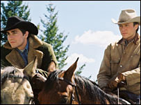 Scene from the film Brokeback Mountain