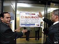 José Vielma, a la izquierda.