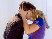 Kiss scene from Doctor Who