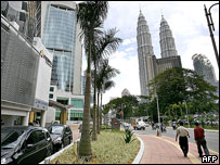 Downtown area and Petronas towers, Kuala Lumpur