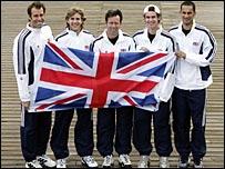 Greg Rusedski, James Auckland, captain Jeremy Bates, Andy Murray and Arvind Parmar