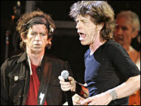 Mick Jagger and Keith Richards from The Rolling Stones
