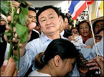 Outgoing Thai Prime Minister Thaksin Shinawatra