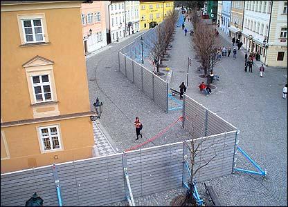Prague flood barriers