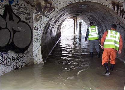 Budapest - flooded underpass
