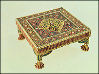 17th century table from Mughal India