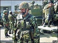 Paramilitary troops Miranshah in North Waziristan