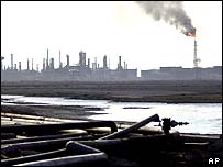Shu'aiba oil refinery near Basra in Iraq