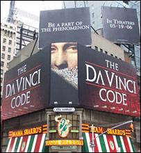 Da Vinci Code billboard