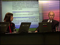 Vladimir Putin gives an online interview to the BBC in 2001 (conducted by Bridget Kendall)
