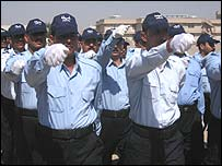 Trainees at Baghdad police academy