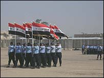 Graduation ceremony at Baghdad police academy