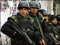 Palestinian police officers (file photo)