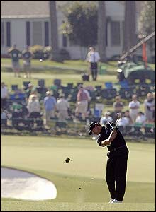 Retief Goosen plays an approach shot