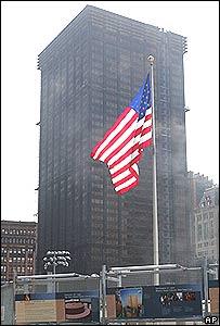 The Deutsche Bank building in sight of Ground Zero, New York