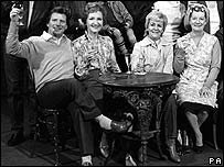 Johnny Briggs (left) in Coronation Street