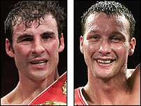 Joe Calzaghe and Clinton Woods