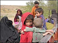 Tribals flee their homes in Mira shah during last month's clashes