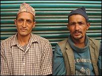 Gyan Bahadur Basnet (l) and Chandra Bahadur Khadka