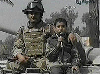 Boy praises army on Iraqi TV