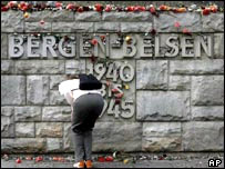 The Bergen-Belsen memorial wall