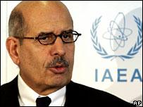IAEA chief Mohamed ElBaradei. File photo