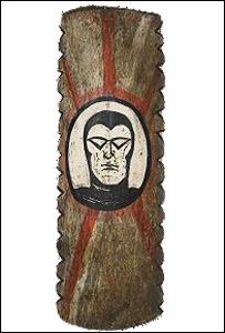 Battle shield from Papua New Guinea - Pitt Rivers Museum