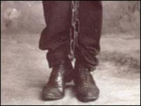 A convict in Tasmania