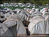 A tent village in Balakot, Pakistan