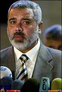Palestinian Prime Minister Ismail Haniya