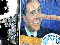 Anti-Berlusconi poster
