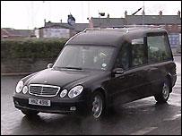 Denis Donaldson's funeral
